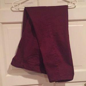 D.jeans size 16 Burgundy color